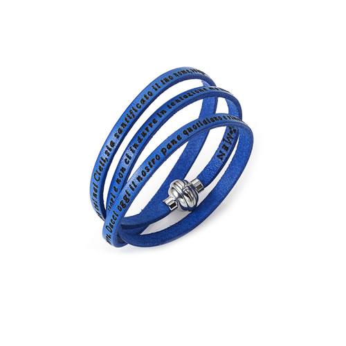 le-fate-argentate-gioielli-bijoux-biella-bracciale-amen-padre-nostro-blu