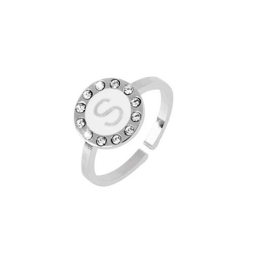 le-fate-argentate-gioielleria-bigiotteria-biella-anello-donna-regolabile-con-mini-lettera-su-smalto-bianco