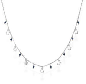 Collana in argento con stelline