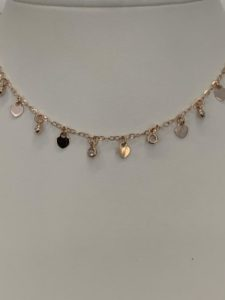 Collana in argento rosee'
