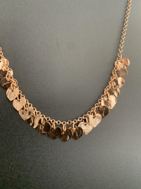 Collana in argento cuori
