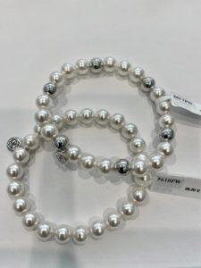 Bracciale elasticizzano con perle